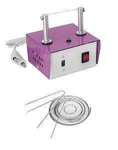 Máquina de Cortar Fita Fuxico + Moldes Argola + Refil de Brinde