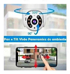 Câmera IP 360 pan e tilt