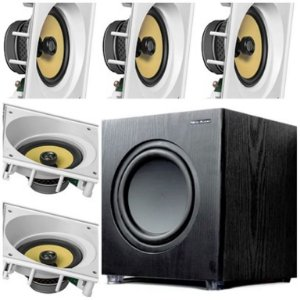 kit Home JBL 5.1 - 5 cxs CI6SA + Sub200 New Audio