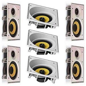 Kit Home JBL 7.0 - 3 caixas CI8SA + 4 caixas CI8R