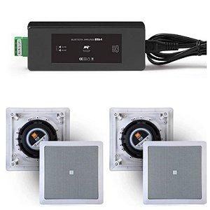 Amplificador AAT BTA-1 BT + 4 Caixas Gesso JBL 6CO1Q