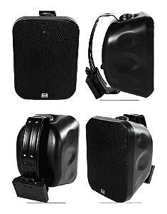 Caixa Acústica AAT OS120-IP56 Sol e Chuva ( Preta ) ( 4 unidades )