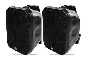 Caixa Acústica AAT OS120-IP56 Sol e Chuva ( Preta ) ( Par )