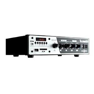 Amplificador para Som Ambiente SLIM1000 + Caixa Acústica para Som Ambiente Frahm PS200 Branca(PAR)