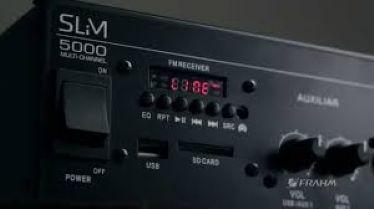 Amplificador Som Ambiente Slim 5000 c/Zona 2