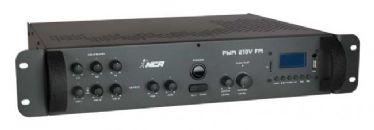 Pré-Amplificador Mixer PWM 300- 210V NCA c/ USB e FM