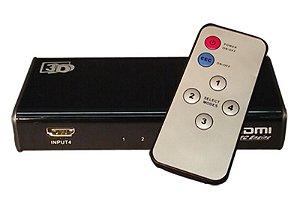 Switch HDMI 4 Entradas x 1 Saída