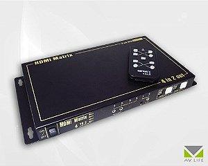 Matrix HDMI 4x2 1080p HDCP c/ Áudio Out – AV LIFE