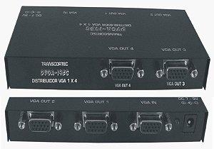Distribuidor de vídeo VGA/WXGA 1 entrada e 4 saídas. (Fonte externa) - DVGA14 EC