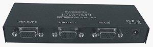Distribuidor de vídeo VGA/WXGA 1 entrada e 2 saídas. (Fonte externa) DVGA12EC