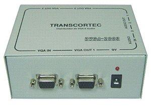 Distribuidor de vídeo VGA/WXGA 1 entrada e 3 saídas c/ áudio P2. (Fonte Externa) - DVGA2003P