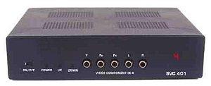 Seletor 4>1 Vídeo Componente/Áudio SVC 401