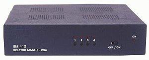Seletor de Video VGA/WXGA 4 Entradas e 1 Saída. (c/ 1 Cabo S-VGA) - SM410A