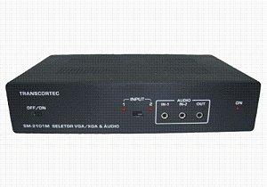Seletor de Vídeo VGA/WXGA 2 Entradas e 1 Saída c/ áudio P2 - SM-2101P