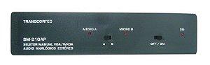 Seletor de vídeo VGA/WXGA 2 Entradas c/ by-pass e 1 Saída c/ Áudio P2) - SM-210AP