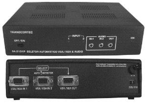 Seletor Automático de Vídeo - VGA/WXGA 2 > 1 Saída c/ Áudio P2 - SA210P