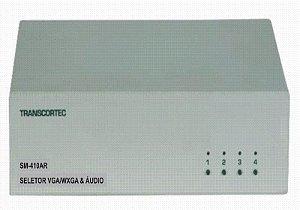 Seletor de video VGA/WXGA 4 entradas e 1 saída c/ áudio RCA (L/R) - SM-440AR