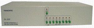 Seletor Manual ou Automático de Video VGA/WXGA 8 entradas e 1 saída c/ audio P2 - SA-8101P
