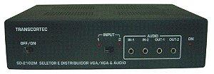 Seletor/Distribuidor Automatico de Video VGA/WXGA 2 Entradas e 2 Saídas Iguais c/ Audio P2 - SAD2102P