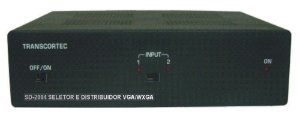Seletor/Distribuidor de Video VGA/WXGA 2 Entradas e 4 Saídas Iguais. - SD2004