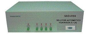 Seletor/Distribuidor Automático de Video VGA/WXGA 4 Entradas e 4 Saídas Iguais. - SAD4104