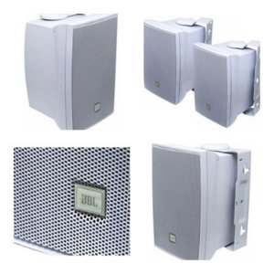 Caixa Acústica JBL p/ Som Ambiente 30W RMS C321B Branca (Par)
