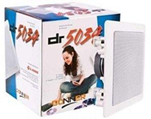 Caixa de Som Ambiente p / Embutir Gesso Quadrada Branca DONNER DR5034 ( PAR )