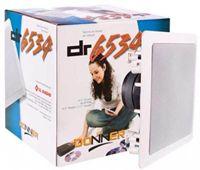 Caixa de Som Ambiente p / Embutir Gesso Quadrada Branca DONNER DR6534 ( PAR)