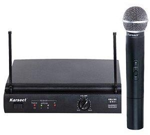 Microfone sem fio Karsect KRU-301/KST-5U