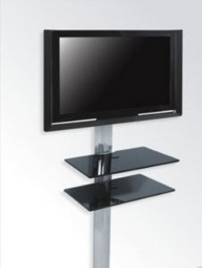 Rack Airon Simply 45/2 BLACK GLASS BLACK