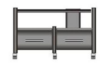 Rack Airon HT-100.04 c/gavetas cor black
