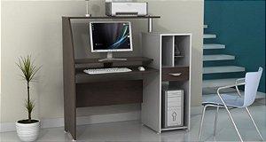 Mesa para Microcomputador Província Genius cor Tabaco