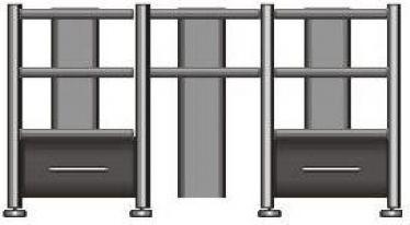 Rack Airon HT-150.01 c/gavetas e canaletas