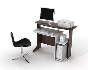 Mesa para Microcomputador Província Fly cor Tabaco c/ Branco