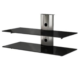 Rack Airon Simply 90/2 C BLACK GLASS BLACK