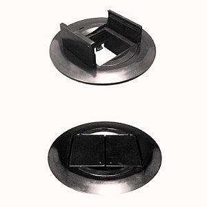Caixa de Piso Circular CR2 AV LIFE (Suporta Até 2 Módulos)