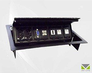 Painel de Mesa Retangular Plus AVMS01 ( Suporta Até 7 Módulos)
