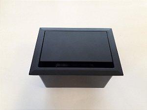 Caixa de Mesa Dock Metal AV LIFE (4 Encaixes) Cor Black