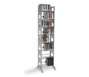 Estante Airon Expansivel TOWER 200 DVD Silver