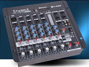 MESA DE SOM STARMIX S602R BT com BLUETOOH E USB LL AUDIO
