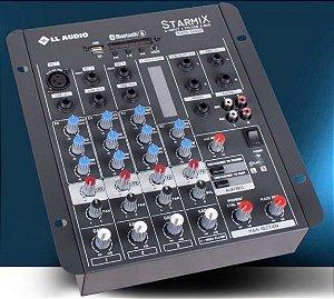 MESA DE SOM STARMIX  S402R BT COM BLUETOOTH e USB LL AUDIO