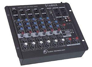 Mesa de som Starmix- US802R com USB LL AUDIO