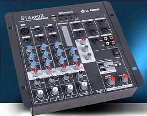 MESA DE SOM STARMIX  USFX402 BT com EFEITO / USB e BLUETOOTH LL AUDIO