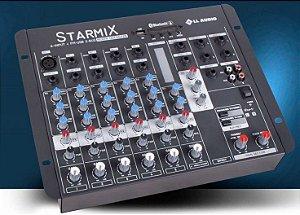 MESA DE SOM STARMIX USFX602R BT com EFEITO/USB  e BLUETOOTH
