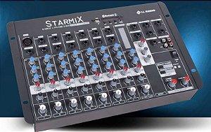 MESA DE SOM STARMIX- USFX802 BT com EFEITO / USB e BLUETOOTH LL AUDIO