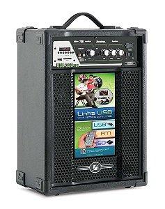 Caixa Acústica amplificada Multiuso USB/SD/FM - USB 350