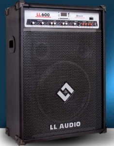 CAIXA AMPLIFICADA MULTIUSO LL600BT com USB e BLUETOOH LL AUDIO