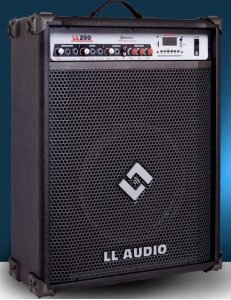 CAIXA AMPLIFICADA MULTIUSO  LL200BT com USB e BLUETOOTH LL AUDIO