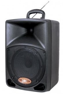 CAIXA DE SOM ATIVA DR08 BAT DONNER, BATERIA / USB / BLUETOOTH / FM E 1 MICROFONE SEM FIO