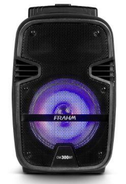 CAIXA DE SOM ATIVA CM300BT FRAHM com BATERIA / USB / BLUETOOTH / FM